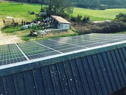 Nettoyage de 215m2 de panneaux photovoltaïques - Ruffiac - Bretagne