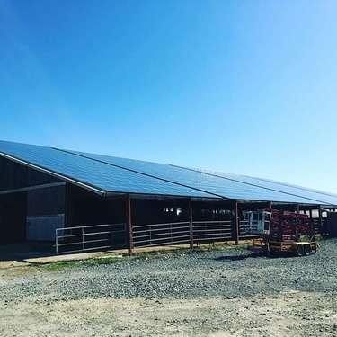 Nettoyage panneaux solaires - exploitation agricole - Châteauroux - Indre