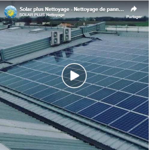 Vidéo :nettoyage de 9600m2 de panneaux photovoltaïques