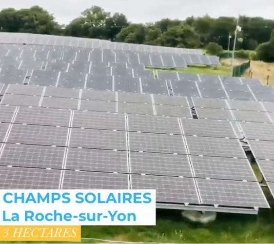 Nettoyage de champs solaires à La Roche-sur-Yon 0