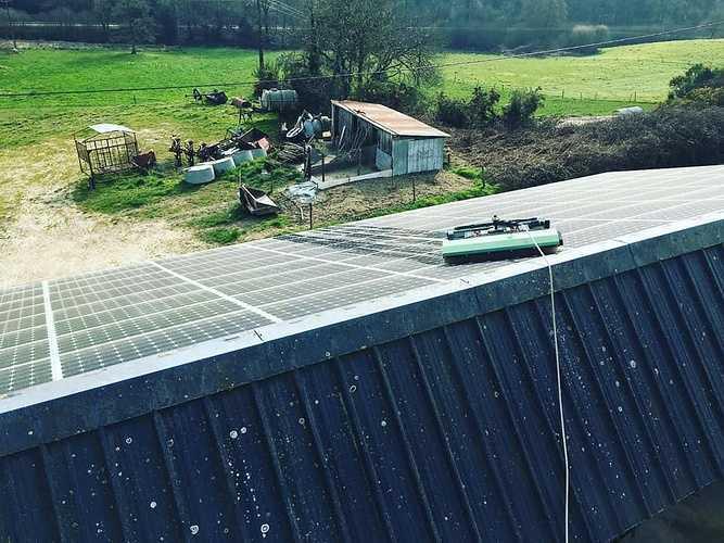 Nettoyage de 215m2 de panneaux photovoltaïques - Ruffiac - Bretagne 1568035948831054024542944992477297294140961n